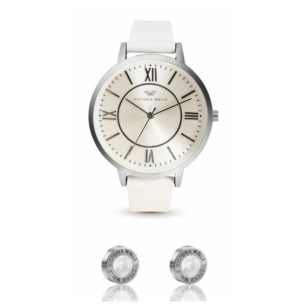 cb348e09b Set dámskych hodiniek s remienkom z chirurgickej ocele a náušníc Victoria  Walls Studo
