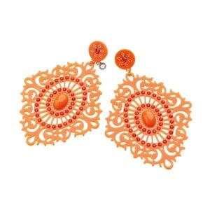 Oranžové náušnice Ottaviani Hippie, dĺžka 10 cm