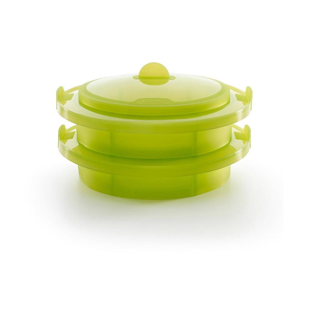 Zelená silikónová nádoba na pečenie v páre Lékué Steamer, ⌀ 22 cm