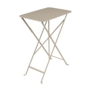 Béžový záhradný stolík Fermob Bistro, 37×57 cm