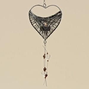 Závesná dekorácia zo železa v tvare srdca Boltz
