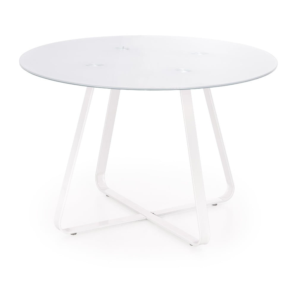 Biely guľatý jedálenský stôl Halmar Looper, ø 115 cm