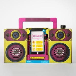 Reproduktor v tvare rádia Just Mustard Boombox