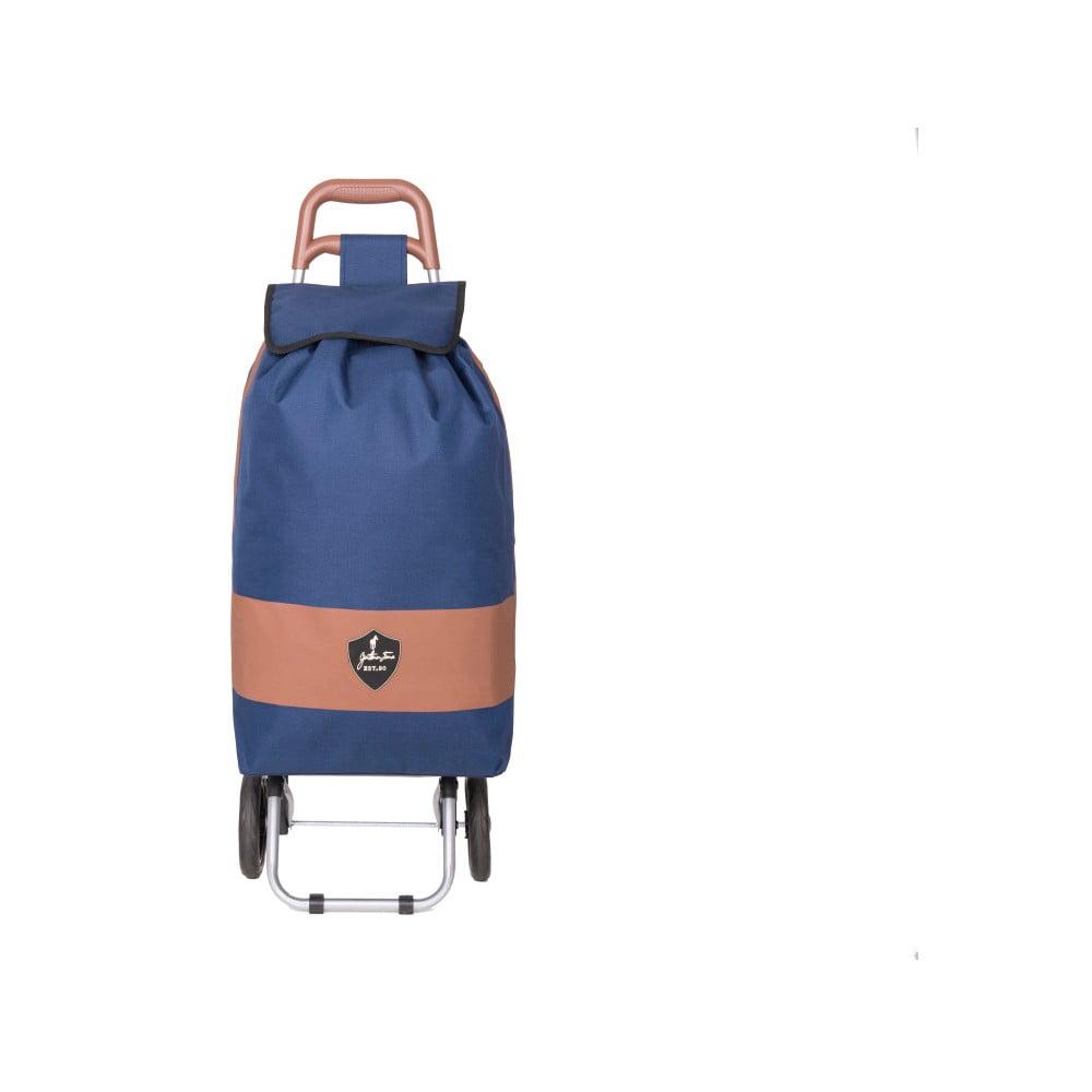Modrá nákupná taška na kolieskach GENTLEMAN FARMER Chariot de Marché, 38 l