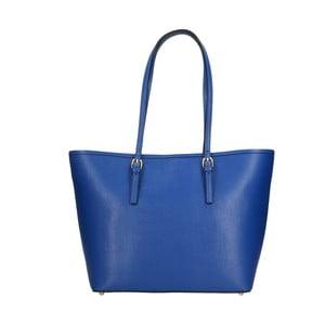 Modrá kožená kabelka Chicca Borse Ruhalo