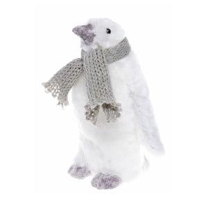 Biela dekorácia Ewax Pinguino, výška 15 cm