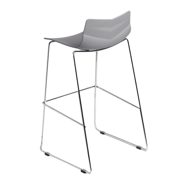 Barová stolička D2 Leaf, sivá