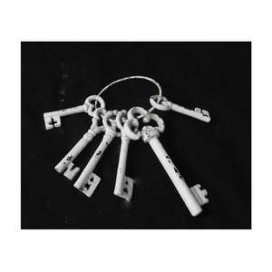 Sada 6 dekoratívnych keramických kľúčov Interiörhuset Keys Vintage