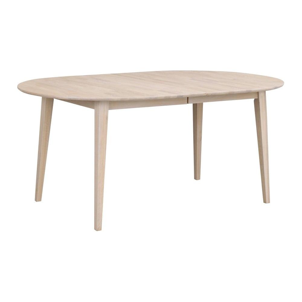 Svetlý oválny dubový rozkladací jedálenský stôl Folke Mimi, dĺžka až 210 cm