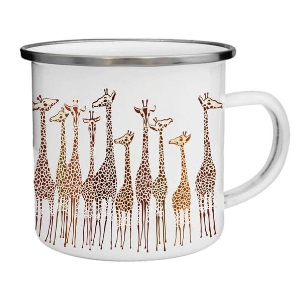 Smaltovaný hrnček so žirafami TinMan, 200 ml