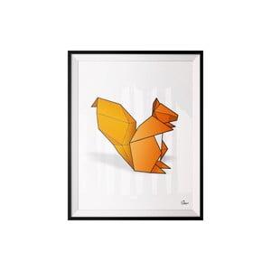 Plagát Squirrel, 30x40 cm