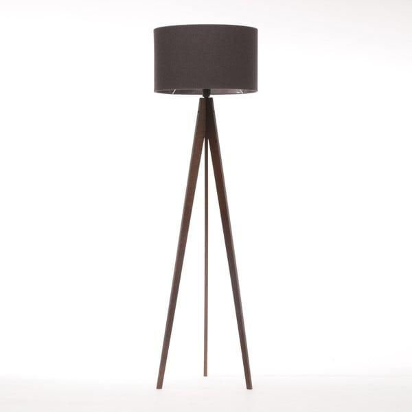 Stojacia lampa Artist Dark Grey Felt/Dark Brown, 125x42 cm
