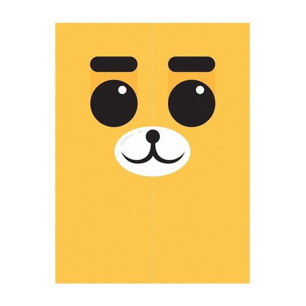 Plagát Medveď Žltý, A4