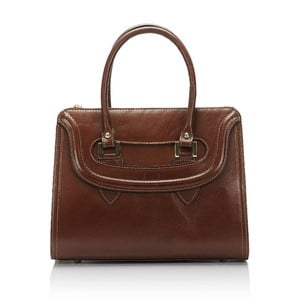 Hnedá kožená kabelka Lisa Minardi Calf