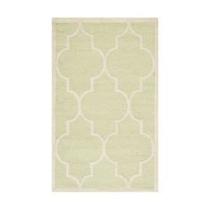 Vlnený koberec Everly Light Green, 91x152 cm