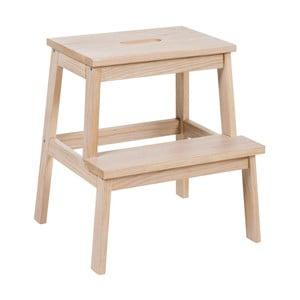 Matne lakovaná dubová stolička/schodíky Folke Nanna