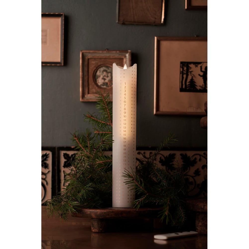 Adventná LED sviečka Sirius Sara Gold Dots, 29 cm