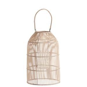 Bambusový lampáš J-Line Rattan Nat, 45cm