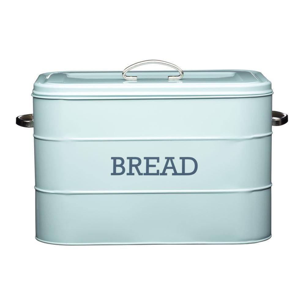 Modrá plechová dóza na chlieb Kitchen Craft Nostalgia