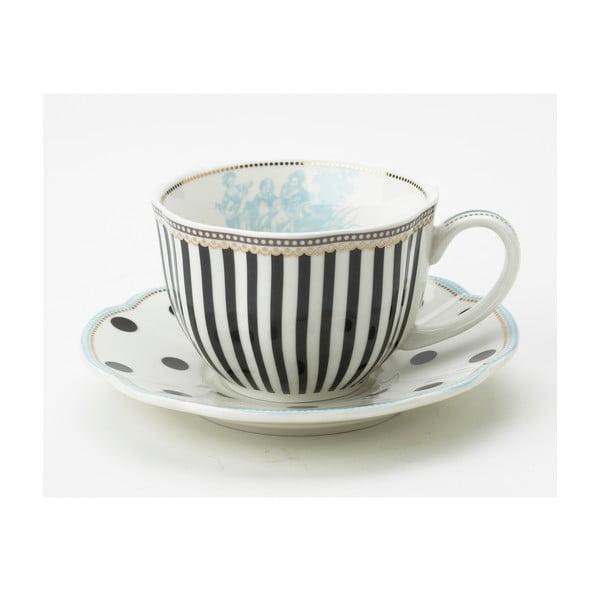 Porcelánová šálka s tanierikom Toile od Lisbeth Dahl, 2 ks