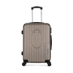 Hnedobéžový cestovný kufor na kolieskach VERTIGO Valise Grand Cadenas Integre Malo, 33 × 52 cm
