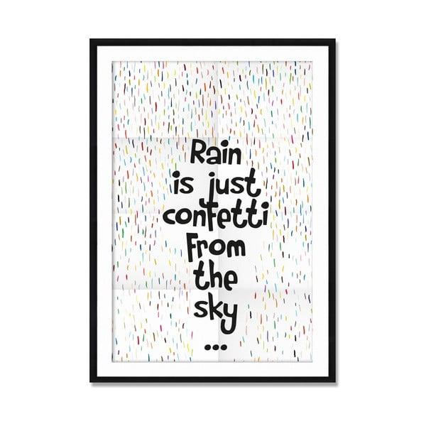 Zarámovaný obraz Rain Confetti, 50x70 cm