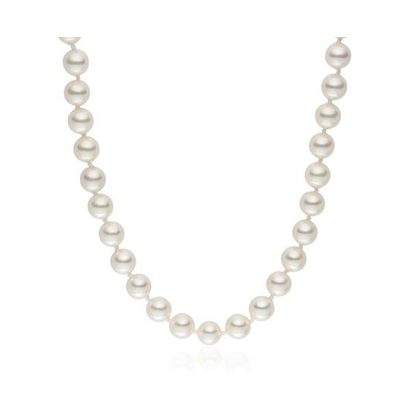 Perlový náhrdelník Pearls Of London Mystic White Off, 42 cm