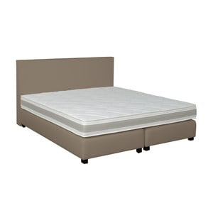 Sivo-béžová boxspring posteľ Revor Deco, 160x200cm