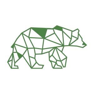 Zelená kovová nástenná dekorácia Wall Decor Bear