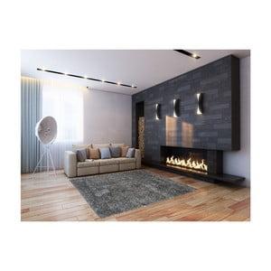 Sivý koberec Webtappeti Shaggy, 75 x 155 cm
