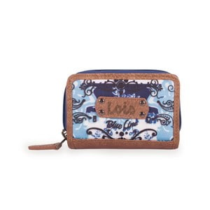 Modro-biela peňaženka Lois, 10 x 7 cm