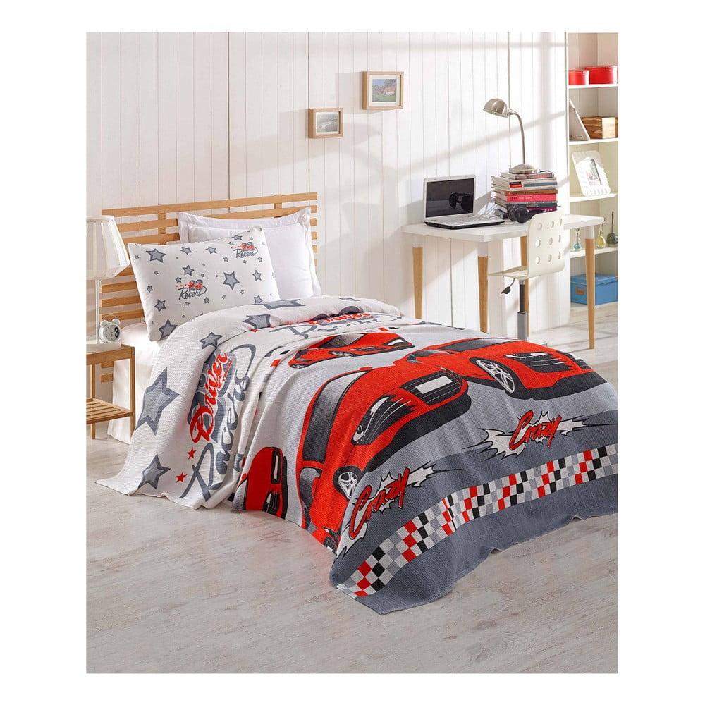Prikrývka cez posteľ z bavlny Cars, 160 × 235 cm