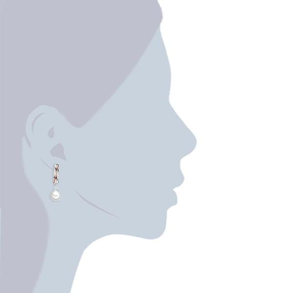 Náušnice s bielou perlou Perldesse Rea, ⌀ 8 mm