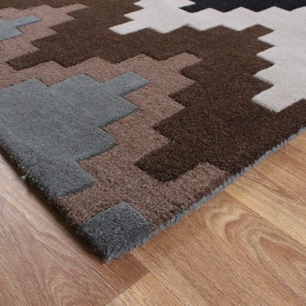 Vlnený koberec Matrix Cuzzo Chocolate 160x230 cm