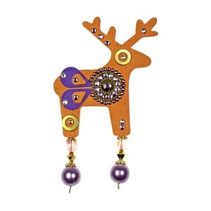 Oranžová brošňa Deers Benicio, 7cm