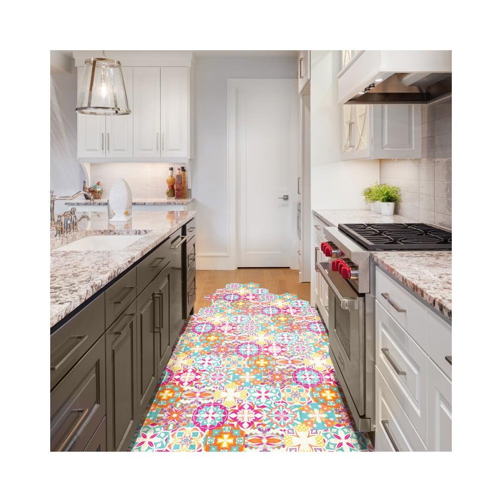 Sada 10 samolepiek na podlahu Ambiance Floor Stickers Hexagons Lusiana, 40 × 90 cm