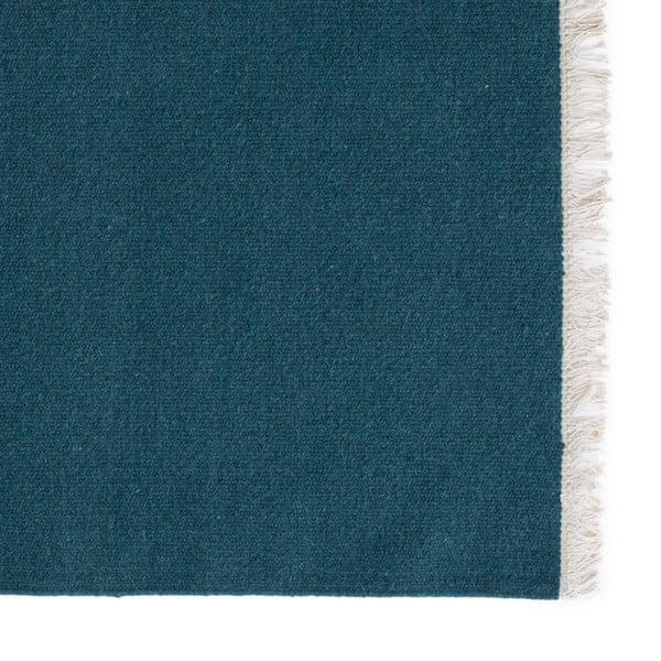 Vlnený koberec Rainbow Petrol, 200x300 cm
