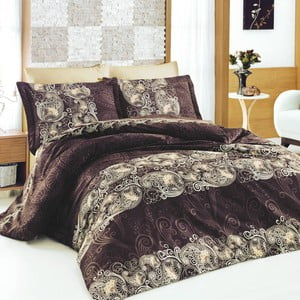 Obliečky z bavlneného saténu s plachtou Ivory,200x220cm