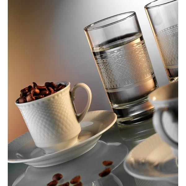 Sada šálok na kávu a pohár Klasika, 12 ks