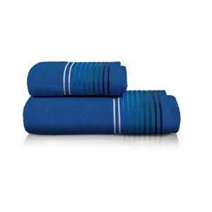 Set modrej osušky a uteráka z bavlny Maison Carezza Linea