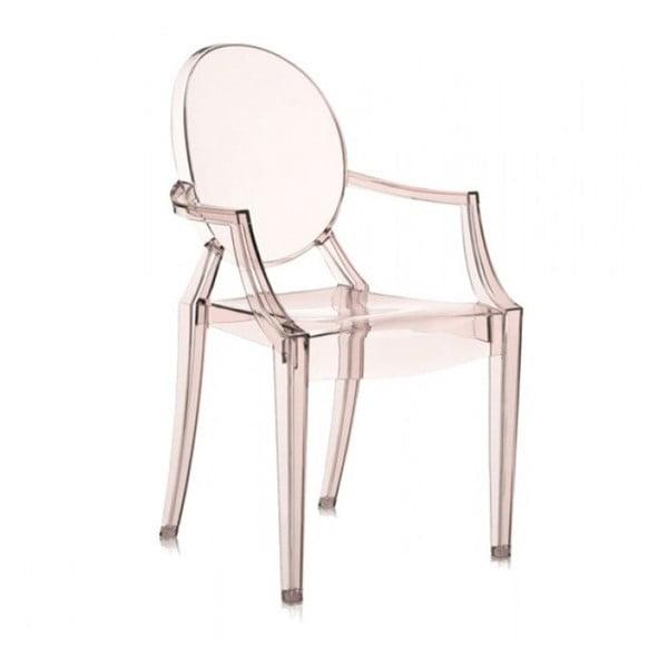 Plastová stolička Kartell Louis Ghost, svetlooranžová