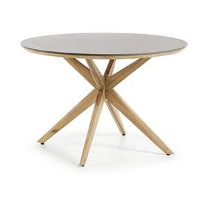 Jedálenský stôl so svetlosivou doskou La Forma Glow, Ø 120 cm
