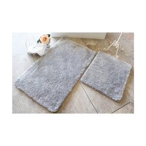 Sada 2 sivých kúpeľňových predložiek Confetti Bathmats Colors of Grey