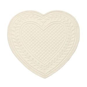 Biele bavlnené prestieranie v tvare srdca Côté Table