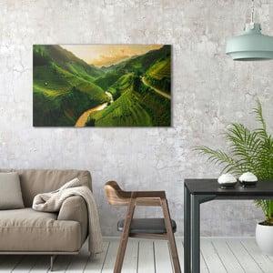 Obraz na plátne OrangeWallz Fields, 70 x 118 cm
