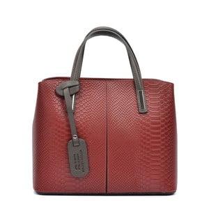 Tmavočervená kožená kabelka Roberta M Mattia