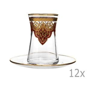 Sada 12 pohárov s tanierikom Mezzo Ottoman Malo Rojo, 170 ml