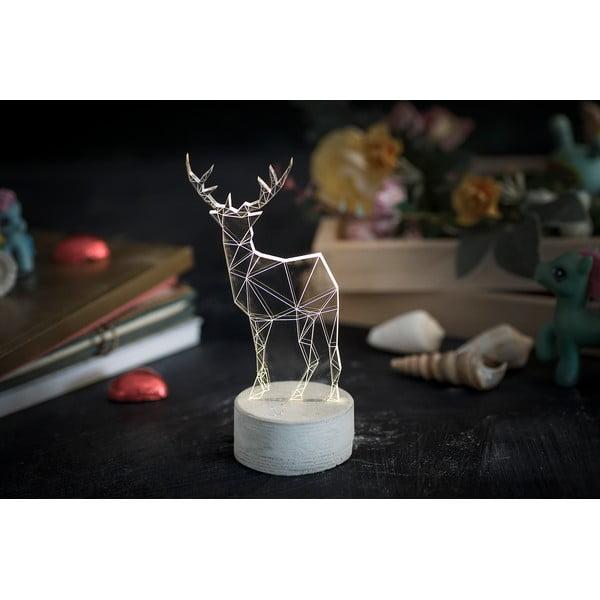 Náladové svetlo Deer, 20 cm