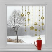 Elektrostatické vianočné samolepky Zlaté hviezdy