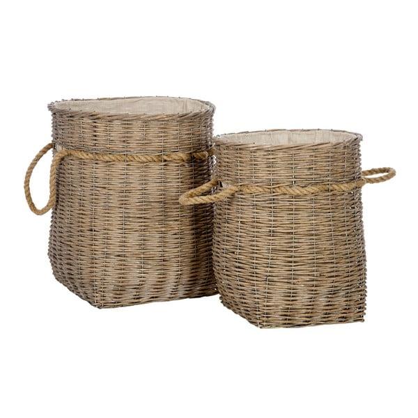 Set 2 prútených košov Reed